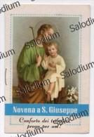 A Libretto - Novena A San Giuseppe - Santino - Holy Card - Images Religieuses
