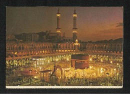 Saudi Arabia Picture Postcard Holy Ka Aba Mecca Mosque View Card - Saudi Arabia