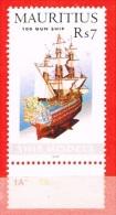 MNH** Mauritius - Maurice -Ship Models  - 2 Timbres  - 100 Gun  Ship Et Drakkar - Maurice (1968-...)