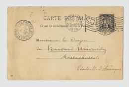 ARDECHE ( 83 ) – VERNOUXCPE Ordinaire - Tarif UPU « ETATS-UNIS » à 10c. (1.10.1881/31.3.1921)E.P. CP - Postales Tipos Y (antes De 1995)