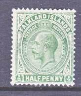FALKLAND  ISLANDS  30  *   Wmk. 3    1912-14  Issue - Falkland Islands