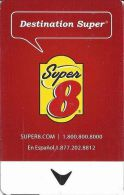 Super 8 Motel - Check Scans Of Back For Different Details! - Hotel Keycards