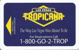Vintage Tropicana Las Vegas Casino Hotel Room Key With Innovative Manufacturer Mark - Hotel Keycards