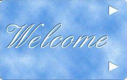 Generic Welcome Room Key Card - Light Blue - Hotel Keycards