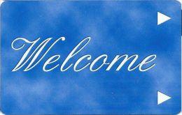 Generic Welcome Room Key Card - Dark Blue - Hotel Keycards