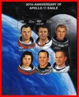 BHUTAN 1999 APOLLO SPACE PROGRAM = 30 ANNIVERSARY M/S GAGARIN MNH ** FREE POSTAGE Is POSSIBLE - Bhoutan