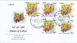 Libya New Issue 2015, Definitives Set High Values 5 Stamps DATES,on Official Illustr.FDC-nice Topical Cover - Libye