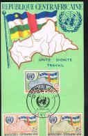 REPUBLIQUE CENTRAFRICANE  -Premier Jour 4 Mars 1961- 3 Timbres - Recto Verso - Paypal Free - Central African Republic