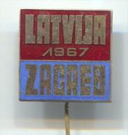 LATVIA - ZAGREB Croatia 1967. Culture & Ethnic, Enamel Pin Badge - Pin's