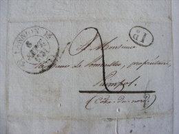 Lettre Marque Postale - Lannion 1831 - écrite à Plouaret  M1 - Marcophilie (Lettres)