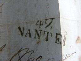 Lettre Marque Postale - 42 Nantes - écrite à Nantes Vers Paimpol  M1 - Marcophilie (Lettres)