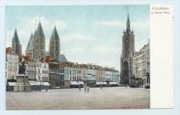 Tournai - Le Grand' Place - Dos Simple - Tournai