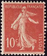 FRANCE  1906 -  Y&T 135 Type I-  Semeuse  10c - Inscriptions Maigres- NEUF* - Cote 9e - 1906-38 Semeuse Con Cameo