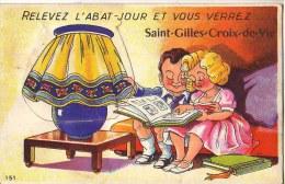 Relevez L'abat-jour Et Vous Verrez ... SAINT-GILLES-CROIX-DE-VIE (carte à Système) - Saint Gilles Croix De Vie