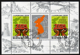 KOREA Nord 1992 - Jahrestag Dialogbeginn Nord  U.Südkorea - Mi.3308 Kleinbogen - Korea (Nord-)