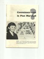 Le Plan Marshall  28 Pages ( Illustration Ostende - Mons - Godarville - Melle  - Plancenoit  - Tronchiennes ) - Books, Magazines, Comics