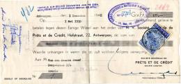 2 Scans / Wissel / Wisselbrief / Betalingsopdracht / Antwerpen / Banque Anversoise De Nantissement Et D'escompte / 1950 - Bank & Insurance