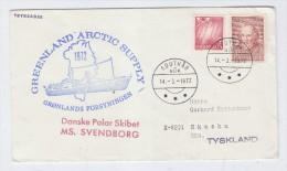 Greenland ANTARCTIC ARCTIC SUPPLY MS.SVENDBORG COVER 1972 - Timbres