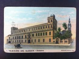 COLEGIO DE BELEN HABANA POSTAL CIRCULADA A VALLADOLID 1916 - Postales