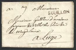 """L 1730 Marque BOUILLON +""""7"""" Pour Liège. LUXE RR - 1714-1794 (Pays-Bas Autrichiens)"""