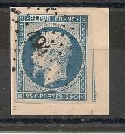 PC 494 BOUXWILLER Bas Rhin Sur 25c PRESIDENT. UN VOISIN. Cote : 40 EUR - 1852 Louis-Napoléon