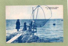 PECHE AU CARRELET   AU BORD DE L'OCEAN - Pêche