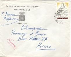 BEL-L13 - BELGIQUE N° 1174 Sur Lettre De Philippeville Pour Les Champagnes Pommery à Reims - Belgium