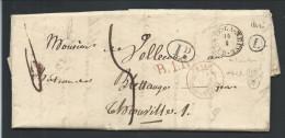 L 1842 T18 HABAY-LA-NEUVE + Boîte L De Rossignol Pour Thionville - 1830-1849 (Belgique Indépendante)