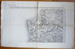 CARTE TOPOGRAPHIQUE ANCIENNE BOULOGNE TYPE 1889 - Carte Topografiche
