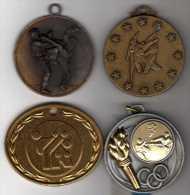 Lot De 4 Médailles Sport Karaté Dont 3 Coupe Du Samouraï - France