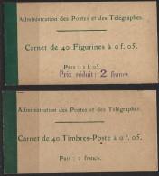 Carnets Semeuse 5c 137 : Dex Couvertures Vides Dont Une Prix Réduit - Carnets
