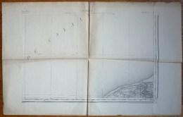 CARTE TOPOGRAPHIQUE ANCIENNE CALAIS SE TYPE 1889 - Topographical Maps