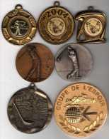 Lot De 8 Médailles Sport Golf - France
