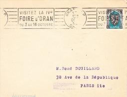 Flamme D´oblitération-ORAN RP-1953-Visitez La IVè FOIRE D'ORAN - Algérie (1924-1962)