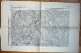 CARTE TOPOGRAPHIQUE ANCIENNE ST-BRIEUC 1 TYPE 1889 - Carte Topografiche