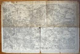 CARTE TOPOGRAPHIQUE ANCIENNE PARIS SE TYPE 1889 - Topographical Maps