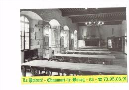 63 - CHAUMONT-le-BOURG - Le Prieuré - Publicité - Salle à Manger Tennis VTT Pêche - Horloge Comtoise Extincteur - France