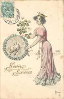 SOUHAITS SINCÈRES - Année 1904,cochon, Thème Chance,carte Signée Hofer. - Cochons