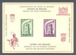 1956 BELGIUM EUROPA DELUXE PANE LX21 - Feuillets De Luxe