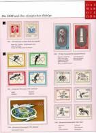 Olympische Erfolge Dokumentation 1/4 DDR 7 Ausgaben ** 14€ Coubertin Hb Ms Sport Se-tenant Olympic Stamps Bf GDR Germany - Summer 1964: Tokyo