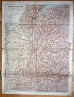 CARTE ROUTIERE ANCIENNE SAVOIE - DAUPHINE Syndicat Général Des Alpes Françaises - Roadmaps