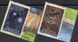 Begründer Baden-Powell/Pfadfinder 1957 Fürstentum Liechtenstein 360/1 Brfst. O 5€ Jugend Beim Fackelzug Scouts Set Of FL - Oblitérés