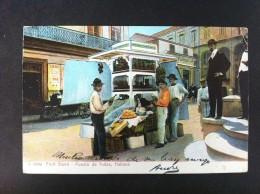 PUESTO DE FRUTAS HABANA POSTAL CIRCULADA A SAN SEBASTIAN 1909 - Postales