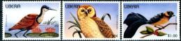 LIBERIA 1996** - Uccelli / Birds - 3 Val  MNH  Come Da Scansione. - Uccelli