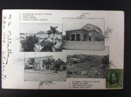 EL MORRO Y PASEO DE LA PUNTA PARQUE DE ALBEAR GRAN TEATRO DE TACON VIÑALES VUELTA ABAJO POSTAL CIRCULADA A VALENCIA 1902 - Postales