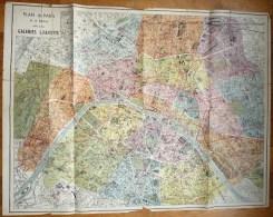 CARTE PLAN DE PARIS Ancien GALERIES LAFAYETTE - Karten