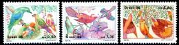 BRASILE / BRAZIL 1986**- Bird-Cristmas / Uccelli-Natale -  3 Val. MNH Come Da Scansione. - Uccelli