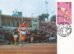 D21952 CARTE MAXIMUM CARD 1992 ROMANIA - ATHLETICS RUNNING CP ORIGINAL - Athletics