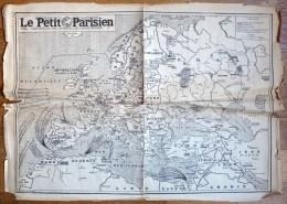 CARTE D'EUROPE LE PETIT PARISIEN 29.11.1939 - Carte Topografiche