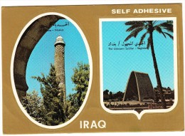 Al Hadba - Nineva &  Baghdad - The Unknown Soldier - (Self Adhesive Postcard) - (Iraq) - Irak